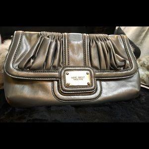 Nine West Silver Versatile Shoulder Bag
